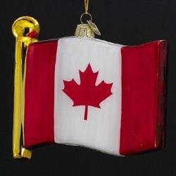 Kurt Adler 4-1/2-Inch Noble Gems Flag of Canada - Canada Adler