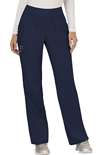 WW Revolution by Cherokee Women's Mid Rise Straight Leg Pull-on Pant, Navy, S ()