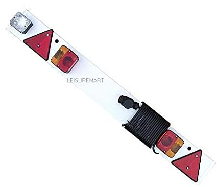 LMX1392 6m cable and 13 pin plug Part no leisure MART Trailer lighting board 4ft complete with reverse light