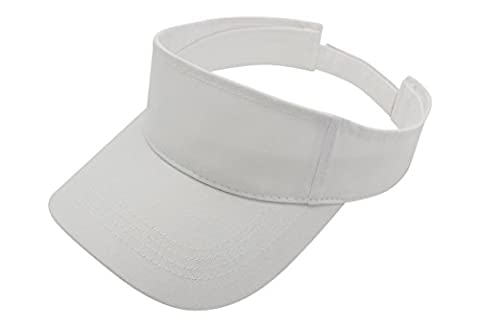 Premium Visor Cap By Top Level - Lightweight & Comfortable Unisex Sun Protector - Adjustable Velcro Strap - Stylish & Elegant Design For Everyone - Available In Many Different Trendy - Cotton Tennis Hat