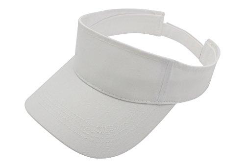 Top Level Sun Sports Visor Men Women - 100% Cotton One Size Cap Hat,WHT]()
