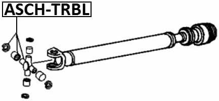 Universal Joint 27X82 Febest ASCH-TRBL Oem 26008858