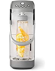 Spärkel Beverage System (Silver) - Sparkling Water and Soda Maker - A New Way of Sparkling - Use Fresh & Natural Ingredients - No CO2 Tank Needed