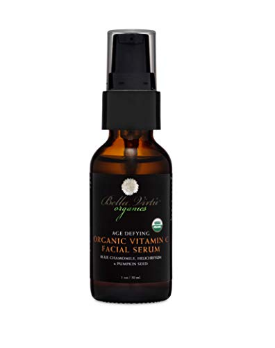 Hydrating Facial Vitamin C Serum with USDA Organic Castor, Rosehip, Safflower Oil, Vit A & E for Natural Acne/Scar Treatment,Wrinkle,Anti Aging Skin Care, Oily & Face Dark Spot Corrector | Men & Women
