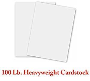 White Card Stock Heavyweight 8.5 x 11 - 100lb Cover (270gsm) - 50 Sheets Per Pack