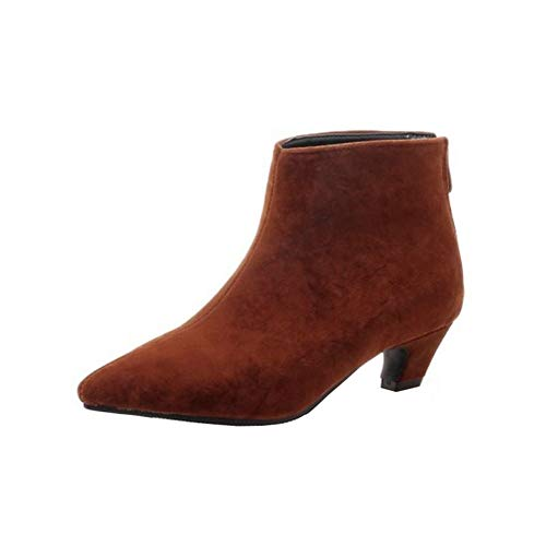 Ankle Women Brown Boots Chelsea Sjjh xzYBPgw
