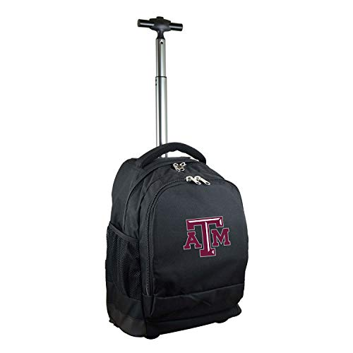 - NCAA Texas A&M Aggies Expedition Wheeled Backpack, 19-inches, Black