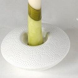 Moderne Deko-Herz Skulptur aus Keramik weiß/silber Höhe 26 cm