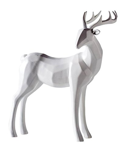 Stag Short - Torre & Tagus 902200B Carved Angle Stag Decor - Head Down