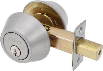Ez Set Satin (EZ-Set 231014 Double Cylinder Deadbolt by EZ-Set, Satin Nickel)