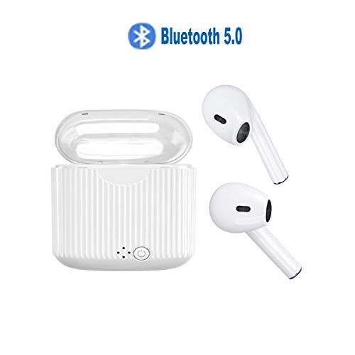 Wireless Bluetooth Headphones Earbuds Stereo Bluetooth 5.0 Stable Connection HD Sound Noise Cancelling and Waterproof Headsets with Charging Case