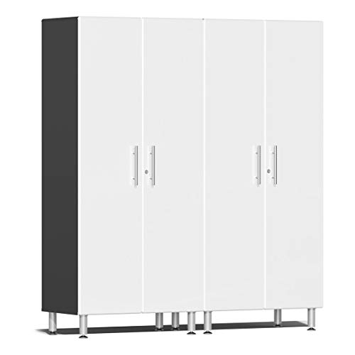 Mdf Garage Cabinets - Ulti-MATE UG22620W 2-Piece Tall Garage Cabinet Kit in Starfire White Metallic