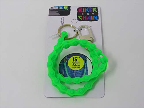 Affordable Biker Keychain Flashing Neon Colors Perfect for Biking, Riding, Skating,and Racing to Keep Your Keys and Treasures Safe with You While Sports or Exhausting Activity
