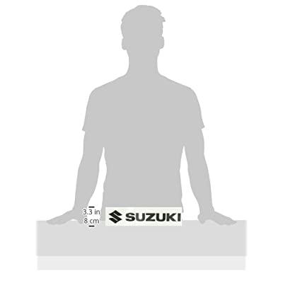 Factory Effex 12-94414 Black 1' (Suzuki) Die-Cut Sticker: Automotive