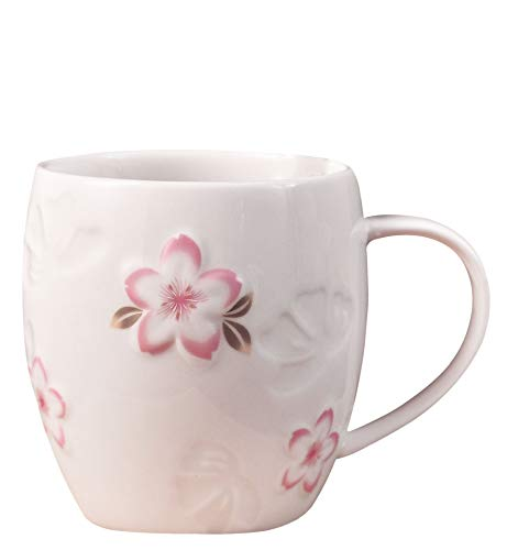Blossoms Charming (Jusalpha Charming Cherry Blossom Coffee Mug/Tea Cup/Water Mug With Spoon set, CB-Mug (White))