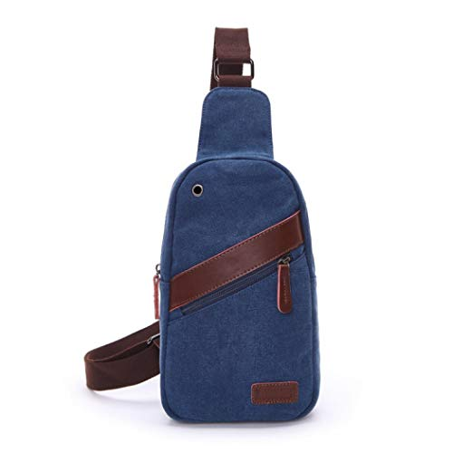 Bolsa Bolsa bolsa Business Crossbody Azul hombro lona Viaje clásico para bolsillos bolso Uni oficina Deporte trabajo de Bandolera Hombre de Señor hombro bolsas trabajo qfwOFF