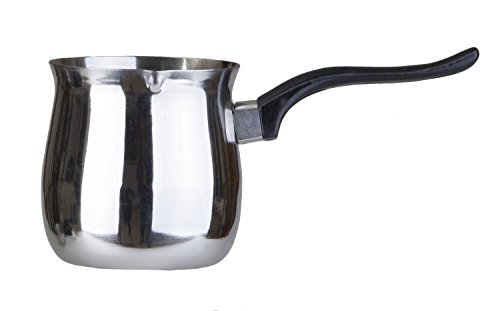 Pal Ed Stainless Steel Turkish Warmer (Finjan, Coffee Pot) (12 Oz.)