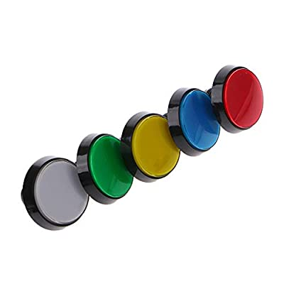lipiny 5 Pcs/Set 5 Colors 60mm Round Push Button for Game Player: Toys & Games