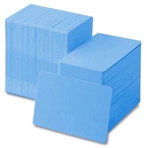 Light Blue 30 mil CR80 Graphic Quality PVC Cards (500/Box)