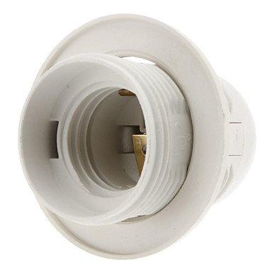E27 Base embellecedor para aplique de lámpara Bombilla con rosca de tornillo de vaso (blanco