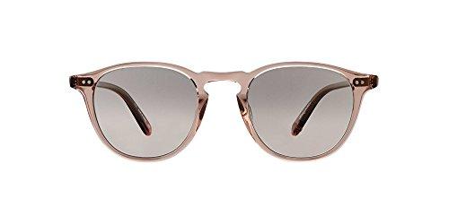 (Garrett Leight Round Hampton Sunglasses in Desert Rose/Semi-Flat Pink Haze Mirror)