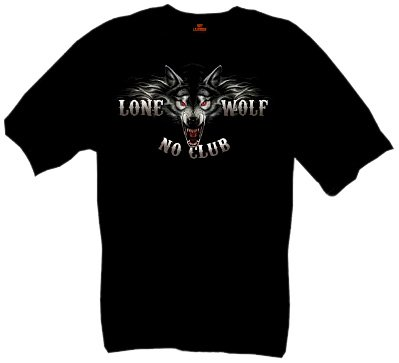 Hot Leathers Full Face Lone Wolf 100% Cotton Double Sided Printed Biker T-Shirt