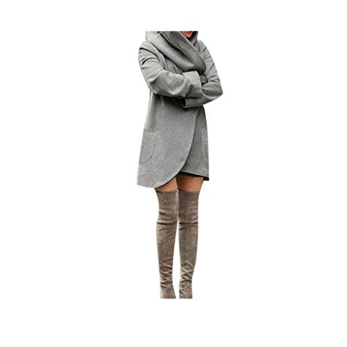 delle Grigio Rivestimento sottile Koly Scuro del di cardigan cappotto moda Windbreaker donne wU7xnqaY