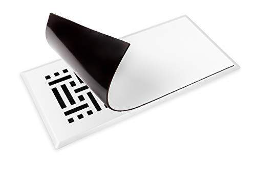 Cozy Livin -White Magnetic Vent Covers - Super-Strong Magnet - 5.5 x 12 (3 Pack) - Fits Standard Air Vents-Registers-Floor Vents-AC Vents-HVAC Vents-Furnace Vents- Use on Floors, Walls, Ceilings, RV