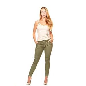 Women's Skinny Jeans Trouser Pant Style Side Slant Pockets