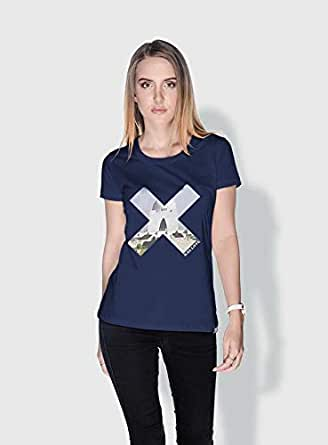 Creo Pakistan X City Love T-Shirts For Women - S, Blue