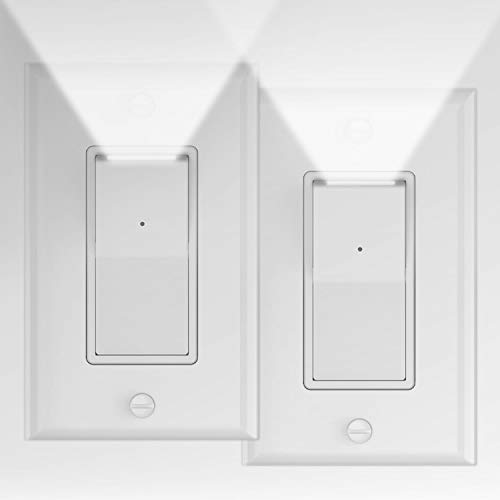 2 Pack Illuminated Light Switch, Decora Paddle