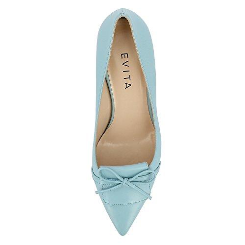 de Giulia Shoes Otra de Zapatos Piel vestir turquesa mujer para Evita wt5Zqdt