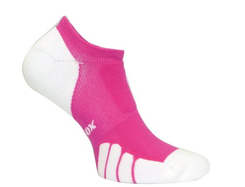 Vitalsox Run and Fun Italy No Show Ghost Socks - Silver Drystat Plantar Support Performance Socks - Fuchsia, Medium VT0310