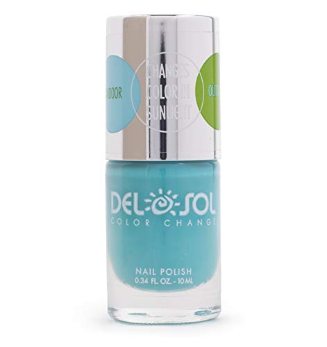 - Del Sol Color Change Nail Polish, Quick Dry Lacquer That Changes Hue in the Sun, Perfectly Pastel, 0.5 oz./15 mL