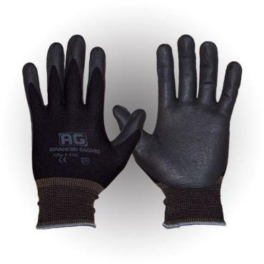AG NITEX P-200, Nitrile Foam Coated work Gloves,12 Pairs, Breath-ability, Touchscreen Technology (BK-XL) (XL)
