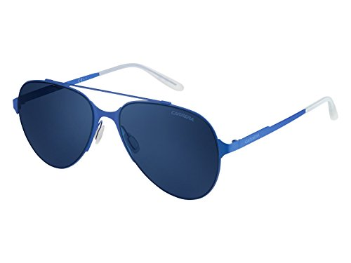 Carrera Men's Ca113s Aviator Sunglasses, Matte Blue/Blue Avio, 57 - Glasses Safilo