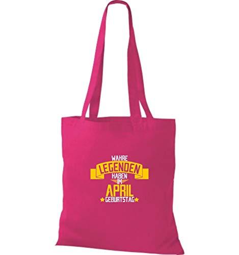 Tela De Fucsia Verdadero Bolsa April El Leyendas En Cumpleaños Tienen Shirtstown EqfaP