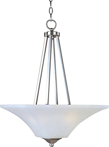 Maxim 20093FTSN Aurora 2-Light Invert Bowl Pendant, Satin Nickel Finish, Frosted Glass, MB Incandescent Incandescent Bulb , 60W Max., Dry Safety Rating, Standard Dimmable, Glass Shade Material, Rated - Glass Pendant Aurora
