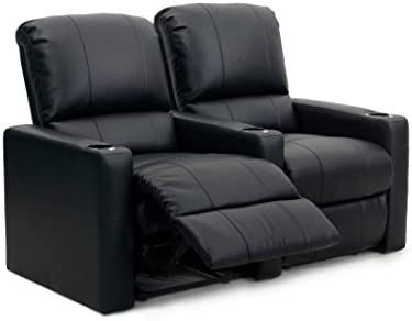 Octane Seating Octane Charger XS300 Leather Home Theater Recliner Set Row of 2