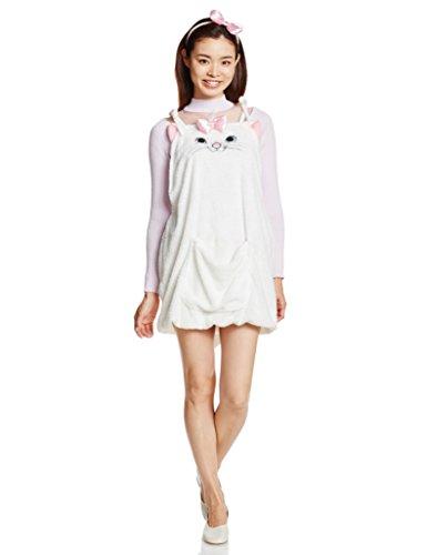 Aristocat Marie Costume (Disney Aristocats Marie overalls costume Ladies dress length 74cm 95632)