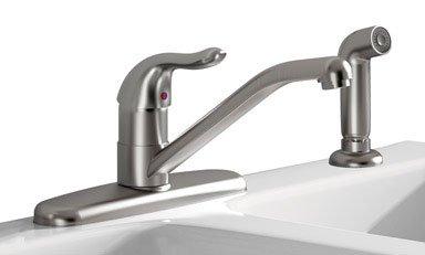 American Standard Brands Jocelyn Kitchen Faucet, 8-1/2 in X 5-1/8 in Spout, Stainless Steel, 8-1/2