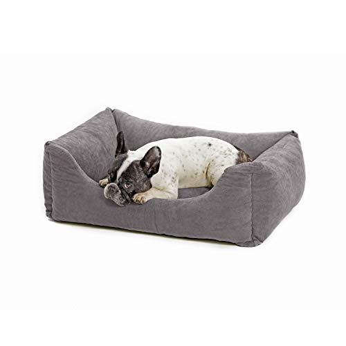 Love's cabin Small Dog Bed with Removable Washable Cover, 24in Grey Cuddler Pet Bed for Small Dogs & Cats Pet Bedding…