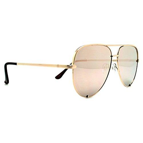 Quay High Key Mirror Gold/Gold - High Sunglasses Key