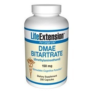 DMAE Bitartrate 200 VegiCaps (dimethylaminoethanol) by AB