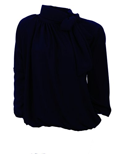 Pink empire Femme Black Marine Montant Uni Taille Chemisier Col trr4v