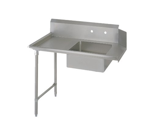 John Boos E-Series Stainless Steel Straight Soiled Dishtable, 8