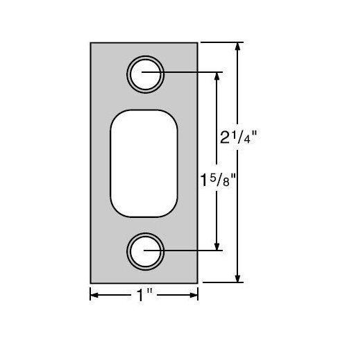 "Kwikset 85072-690 Oil Rubbed Bronze Square Corner 1"" x 2-1/4"" Deadbolt Strike Standard on 660 Series"