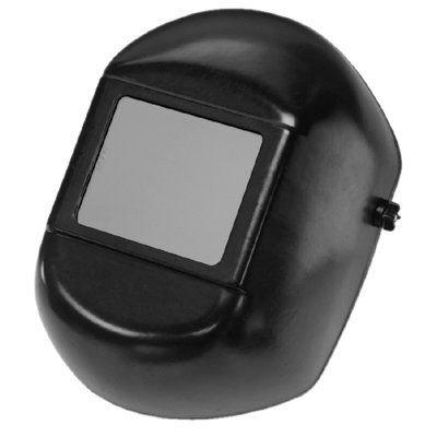 H-100-A Large Window Black Fiberglass Curved Shell Welding Helmet With Headgear
