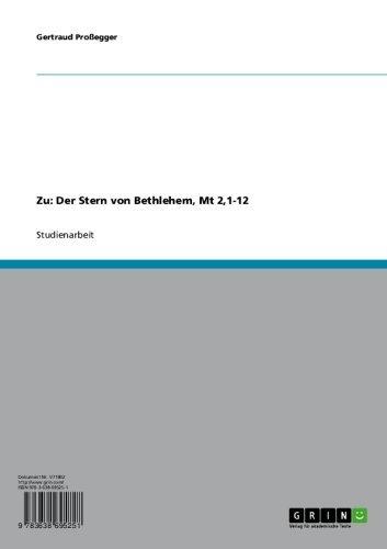 Zu: Der Stern von Bethlehem, Mt 2,1-12 (German Edition)