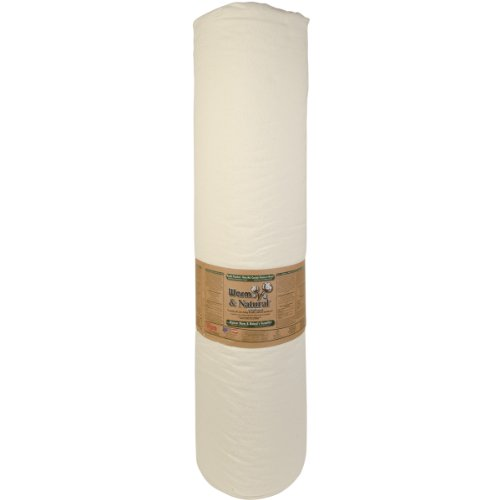 WARM COMPANY 124-Inch by 30-Yard Warm and Natural Cotton Batting by The Yard, King by The Warm Company